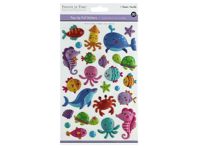 Multicraft Sticker Foil Pop Up Sea Pals