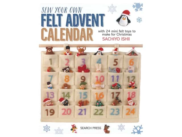 Search Press Sew Your Own Felt Advent Calendar Book