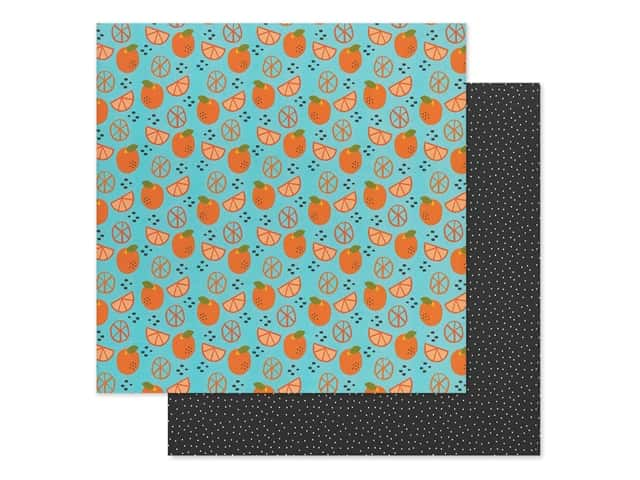 Bella Blvd Collection Squeeze The Day Paper 12 in. x 12 in. Orange You Glad