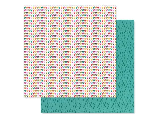 Bella Blvd Collection Squeeze The Day Paper 12 in. x 12 in. Fruity Hearts