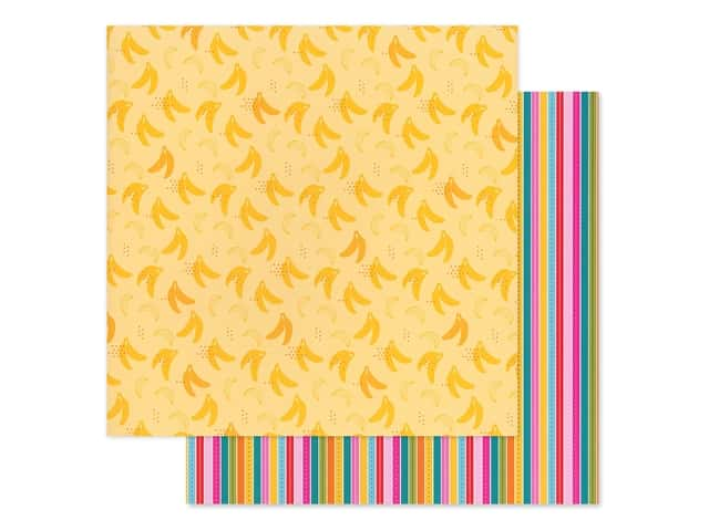 Bella Blvd Collection Squeeze The Day Paper 12 in. x 12 in. Bananas For You