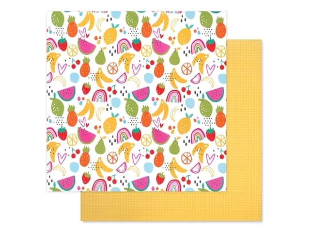 Bella Blvd Collection Squeeze The Day Paper 12 in. x 12 in. Fruit Salad
