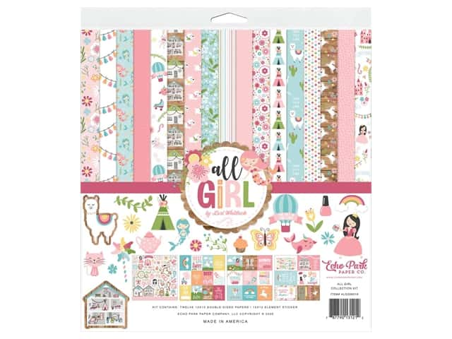 Echo Park Collection All Girl Collection Kit 12 in. x 12 in.