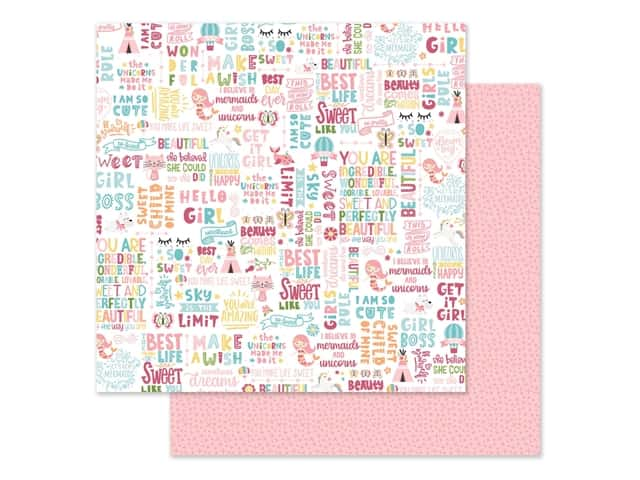 Echo Park Collection All Girl Paper 12 in. x 12 in. Hello Girl