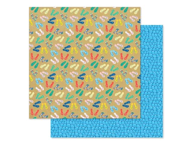 Echo Park Collection Dive Into Summer Paper 12 in. x 12 in. Summer Shoes