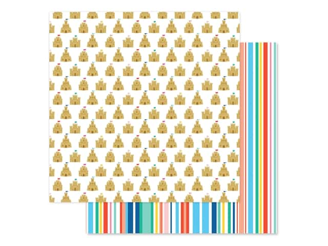 Echo Park Collection Dive Into Summer Paper 12 in. x 12 in. Sandcastle Kingdom