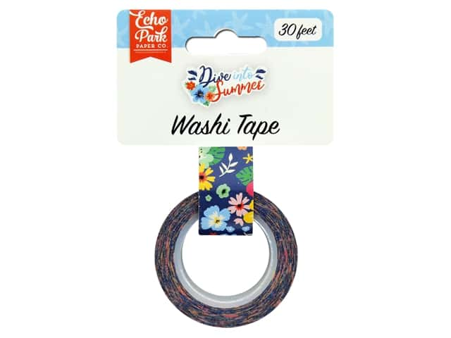 Echo Park Washi Tape Dive Into Summer - Aloha Floral