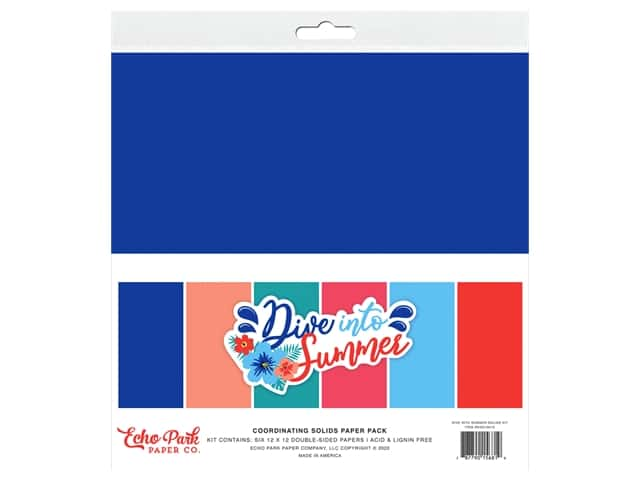 Echo Park Collection Dive Into Summer Solids Kit 12 in. x 12 in.