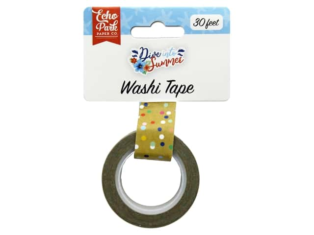 Echo Park Washi Tape Dive Into Summer - Good Vibes Dots