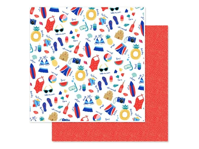 Echo Park Collection Dive Into Summer Paper 12 in. x 12 in. Pool Time
