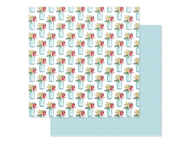 Carta Bella Collection Summer Market Paper 12 in. x 12 in. Sweet Summer Jars