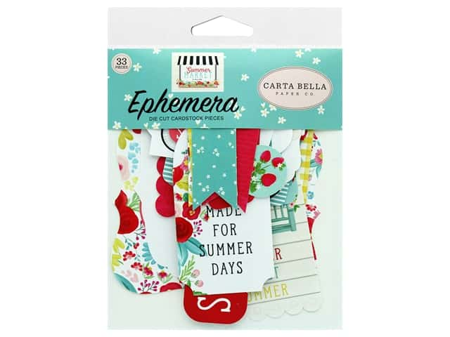 Carta Bella Collection Summer Market Ephemera