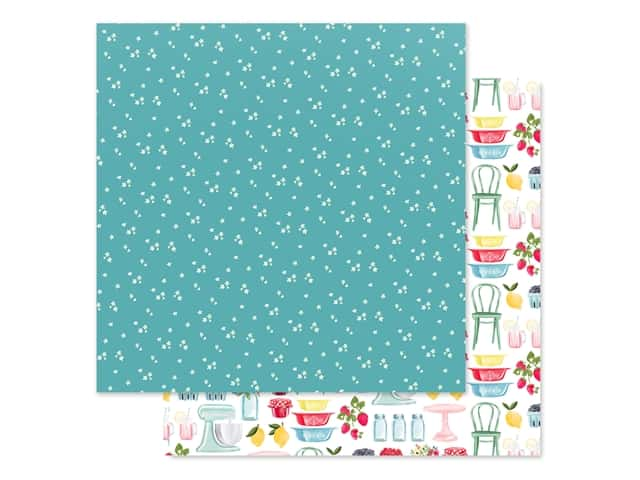 Carta Bella Collection Summer Market Paper 12 in. x 12 in. Tiny Flowers