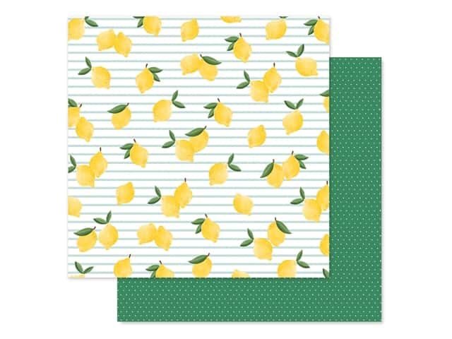 Carta Bella Collection Summer Market Paper 12 in. x 12 in. Lovely Lemons