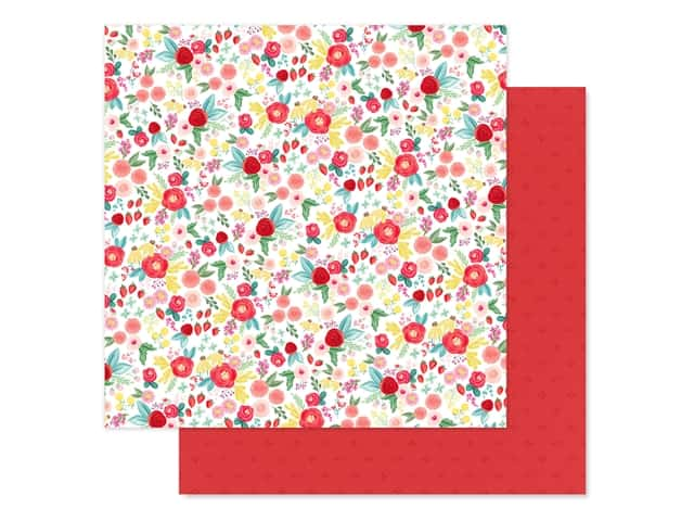 Carta Bella Collection Summer Market Paper 12 in. x 12 in. Summer Floral