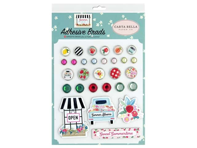 Carta Bella Collection Summer Market Adhesive Brads