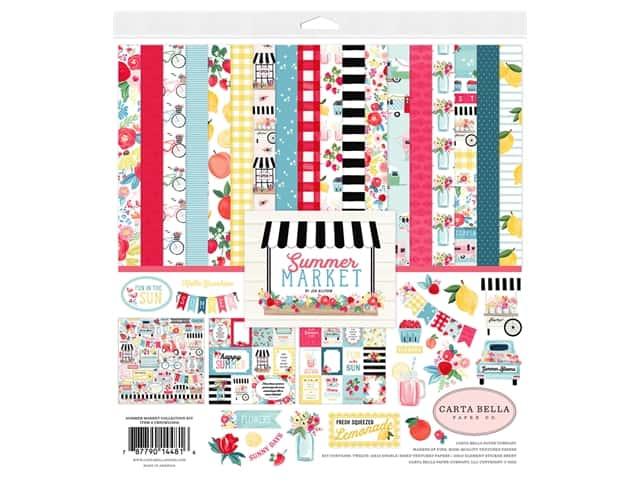 Carta Bella Collection Summer Market Collection Kit 12 in. x 12 in.