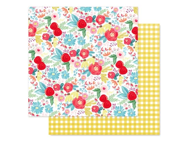 Carta Bella Collection Summer Market Paper 12 in. x 12 in. Summer Day Floral
