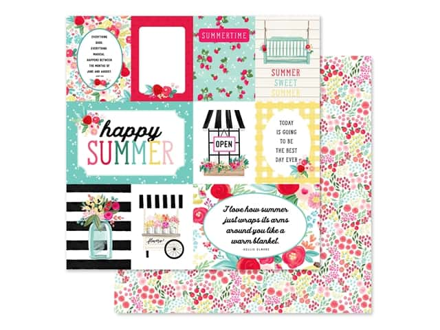 Carta Bella Collection Summer Market Paper 12 in. x 12 in. Journaling Cards