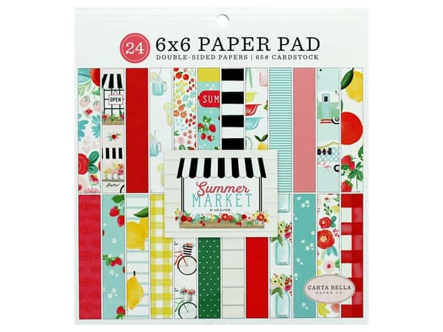 "Carta Bella Collection Summer Market Paper Pad 6""x 6"""
