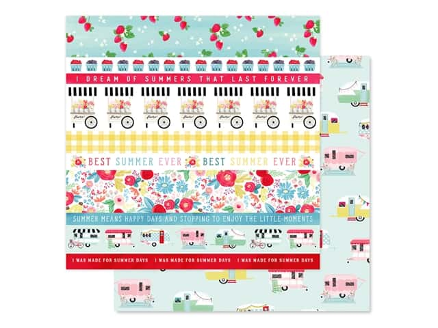 Carta Bella Collection Summer Market Paper 12 in. x 12 in. Border Strips