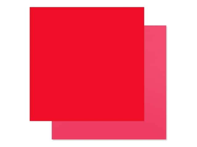 Carta Bella Collection Summer Market Paper 12 in. x 12 in. Red/Pink