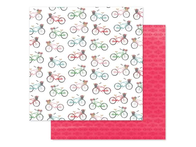"Carta Bella Collection Summer Market Paper 12""x 12""  Bikes"