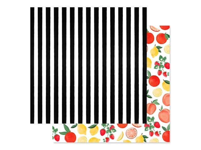 "Carta Bella Collection Summer Market Paper 12""x 12"" Market Stripe"