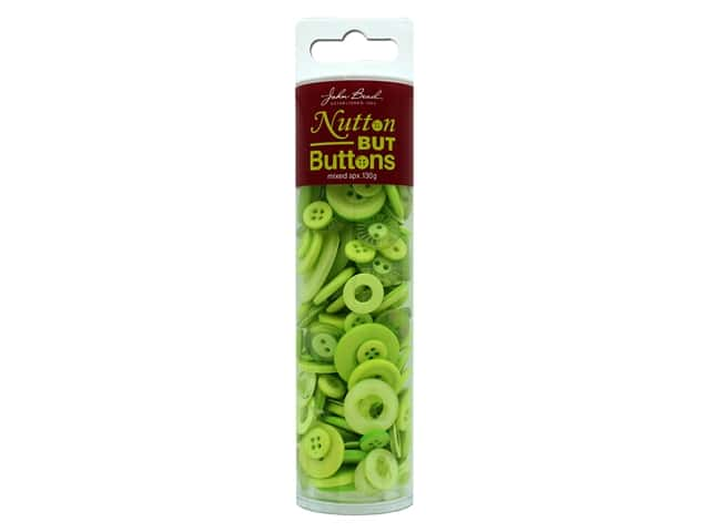 John Bead Nutton But Buttons Resin 130g Lime Green