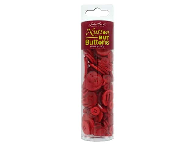 John Bead Nutton But Buttons Resin 130g Red