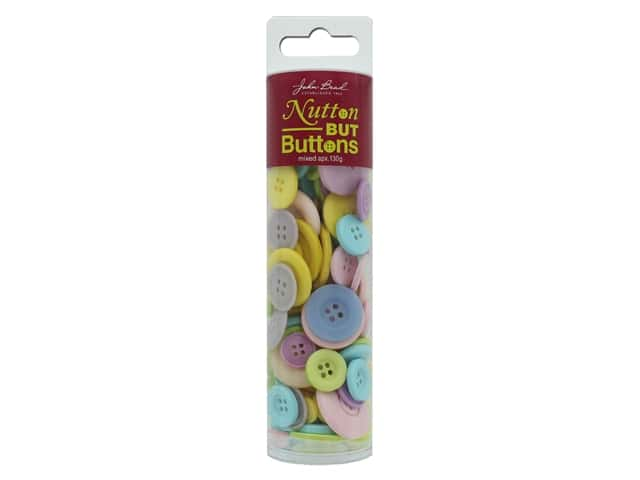 John Bead Nutton But Buttons Resin 130g Pastel