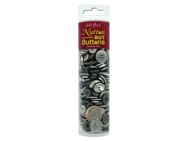 John Bead Nutton But Buttons Resin 130g Silver
