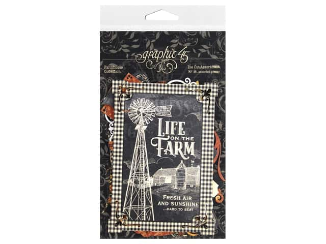 Graphic 45 Collection Farmhouse Die Cut Assorted