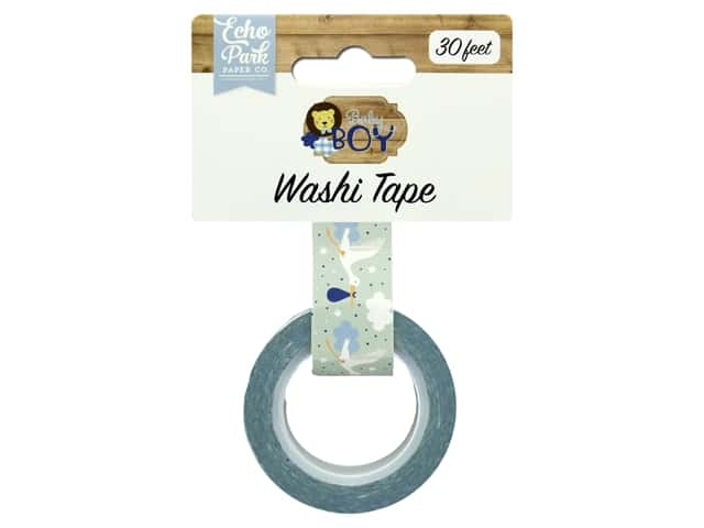 Echo Park Collection Baby Boy Washi Tape Stork