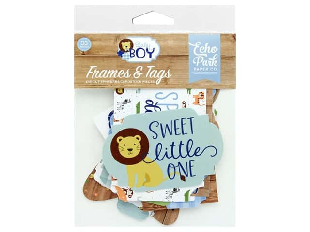 Echo Park Collection Baby Boy Frames & Tags