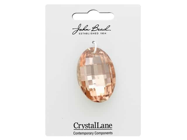 John Bead Crystal Lane Faceted Oval 27x37mm Copper