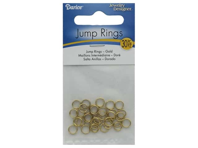 Darice Double Ring 6mm Plated Brass Gold 30pc
