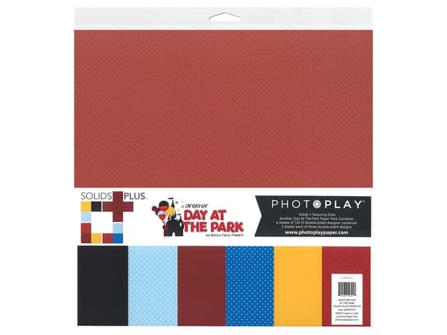 """Photo Play Collection Another Day At The Park Paper Kit 12""""x 12"""" Solid Plus"""