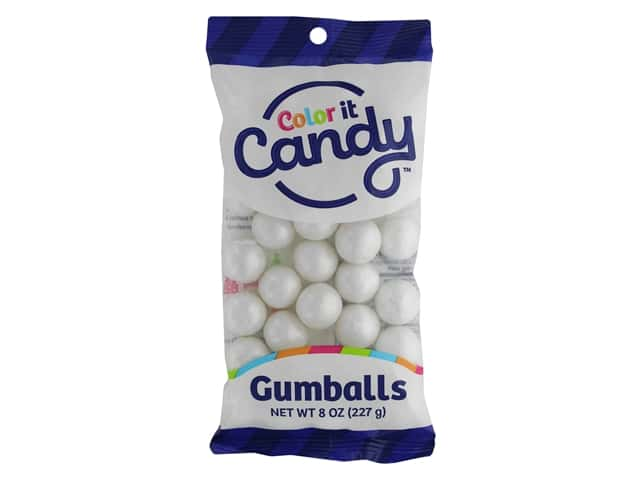 Color It Candy Gumballs 8oz Shimmer White