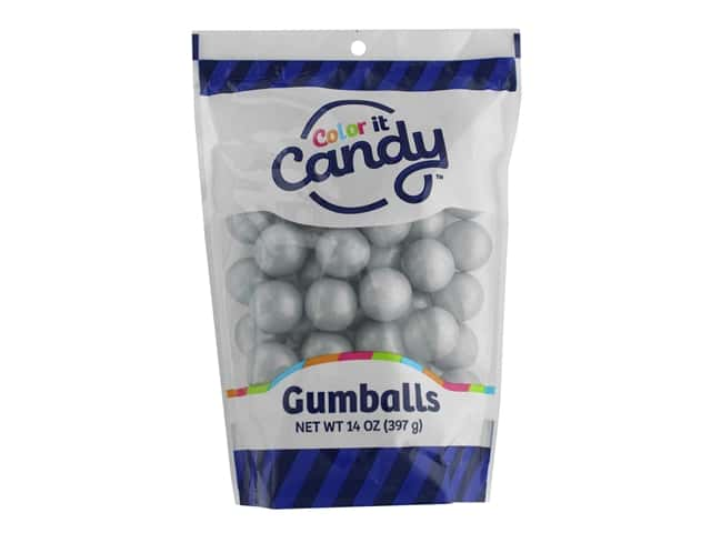 Color It Candy Gumballs 14oz Stand Up Bag Shimmer Silver