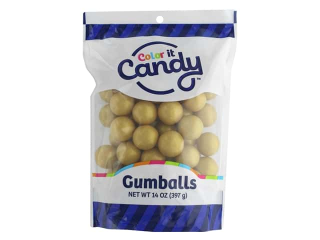 Color It Candy Gumballs 14oz Stand Up Bag Shimmer Gold