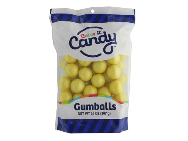 Color It Candy Gumballs 14oz Stand Up Bag Shimmer Yellow