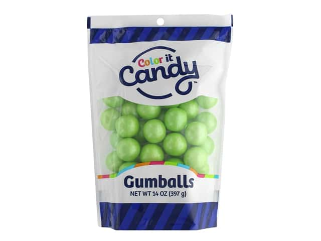 Color It Candy Gumballs 14oz Stand Up Bag Shimmer Lime