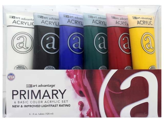 Art Advantage Acrylic Paint Set 4oz Primary Mix