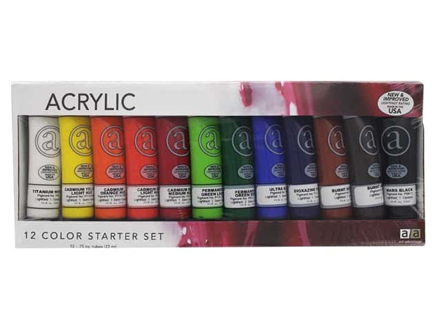 Art Advantage Acrylic Paint Set .75oz 12 Color