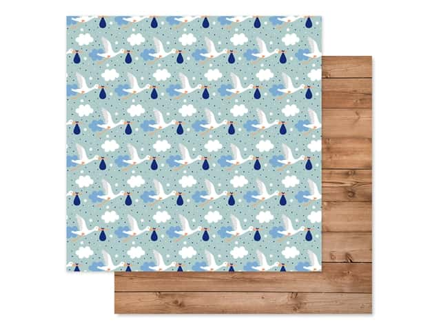 "Echo Park Collection Baby Boy Paper 12""x 12"" Welcome Baby Boy"