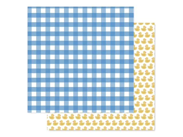 "Echo Park Collection Baby Boy Paper 12""x 12"" Boy Gingham"