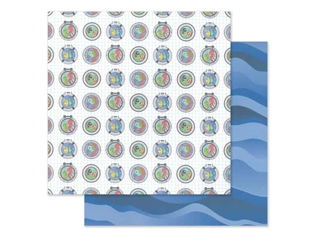 """Photo Play Collection Fish Tales Paper 12""""x 12"""" Port Holes"""