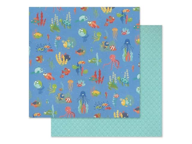 """Photo Play Collection Fish Tales Paper 12""""x 12"""" Under The Sea"""