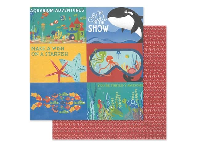 """Photo Play Collection Fish Tales Paper 12""""x 12"""" Showtime"""